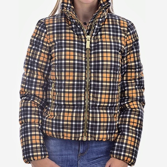 Michael Kors Plaid puffer jacket size M